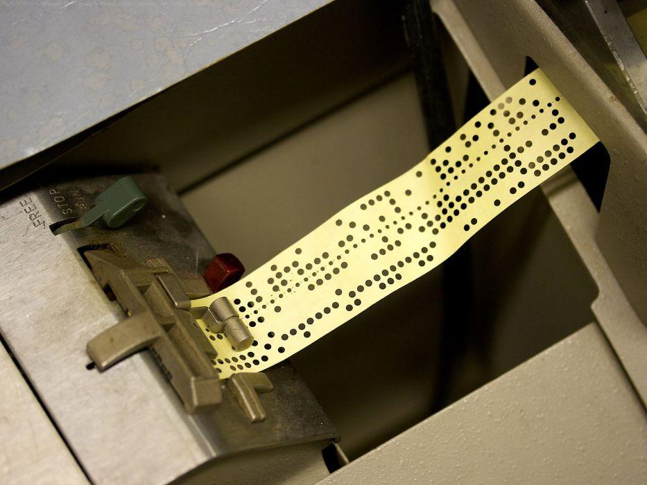 computers history Marcin Wichary teletype paper tape wallpaper