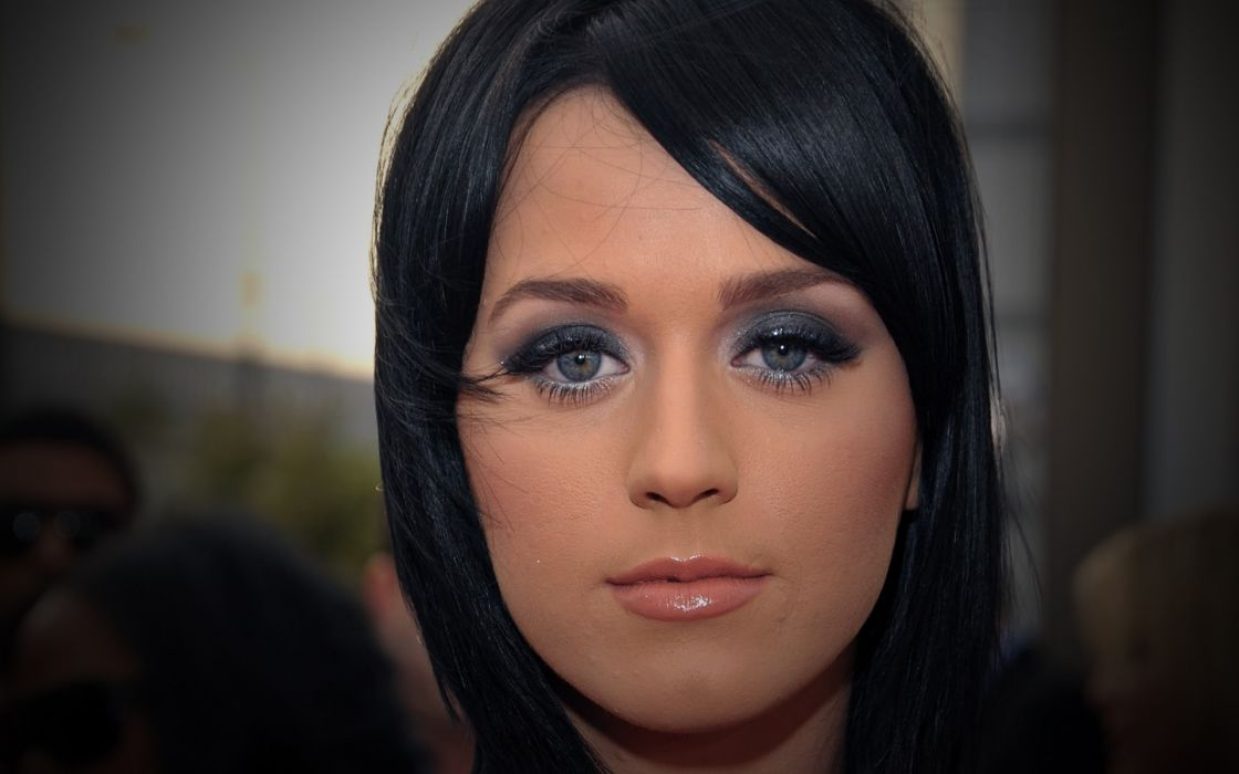 women Katy Perry singers faces wallpaper