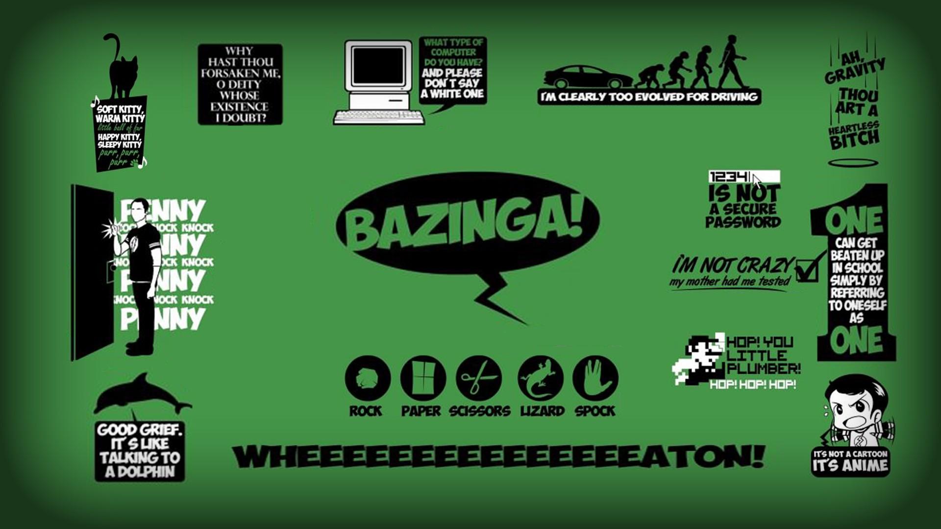 minimalistic quotes the big bang theory (tv) bazinga sheldon cooper