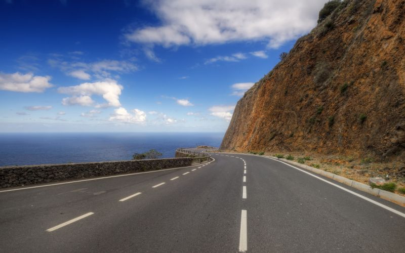 clouds roads skyscapes wallpaper