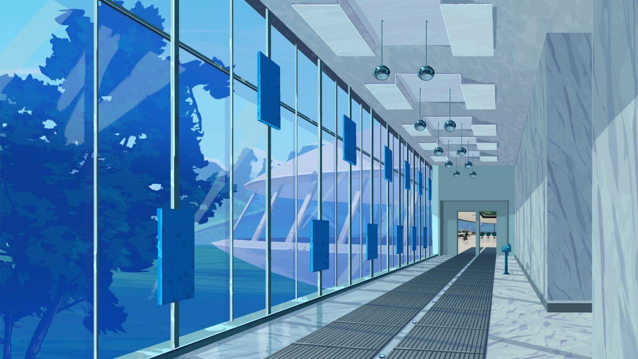 The Venture Bros_ hallway wallpaper