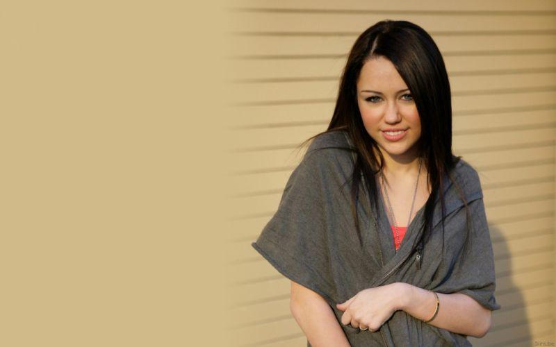 brunettes women Miley Cyrus celebrity wallpaper