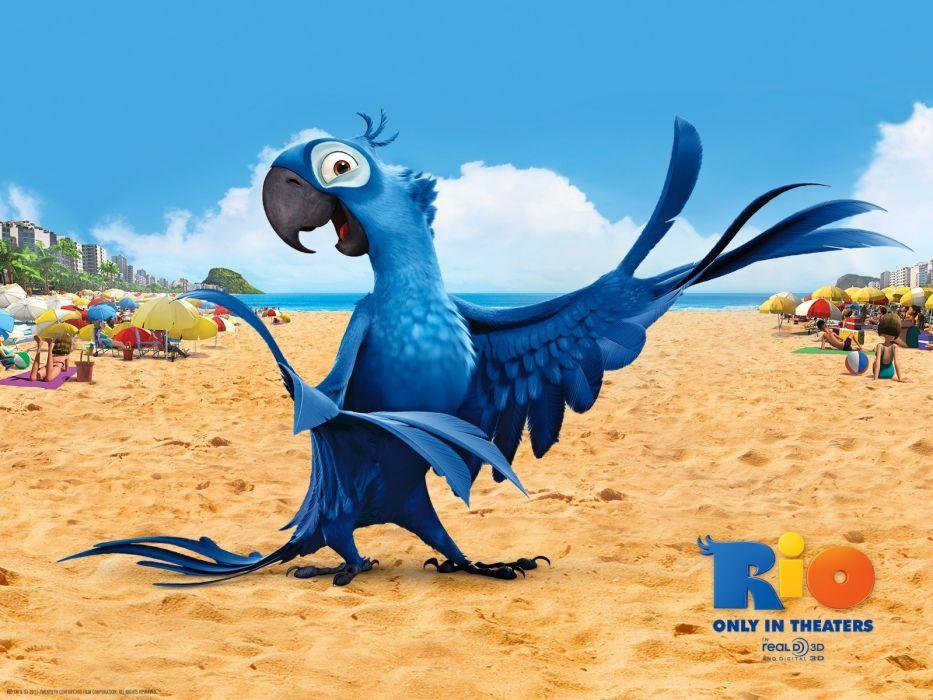 blue movies Rio (movie) Rio wallpaper