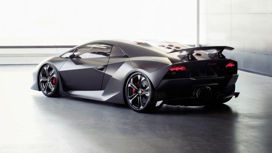 cars Lamborghini vehicles Lamborghini Sesto Elemento matte colored automobile wallpaper