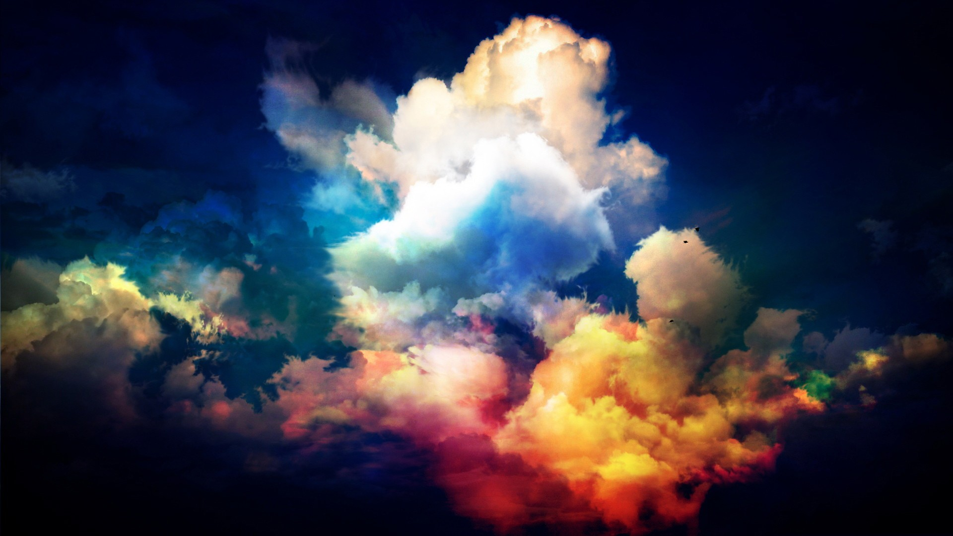 Colourful Fantasy Cloud Backgrounds: Clouds Photo Manipulation Wallpaper