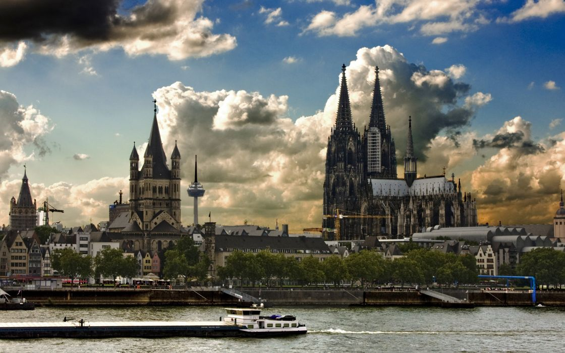 cityscapes Cologne Cathedral wallpaper