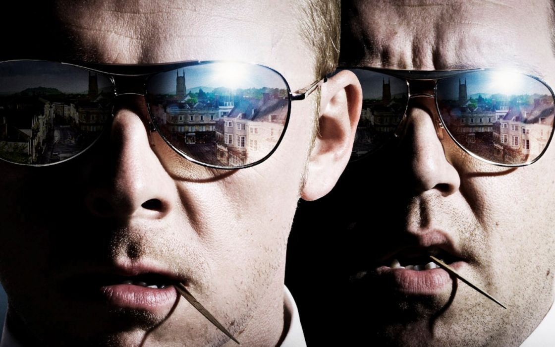 movies Hot Fuzz Simon Pegg Nick Frost wallpaper
