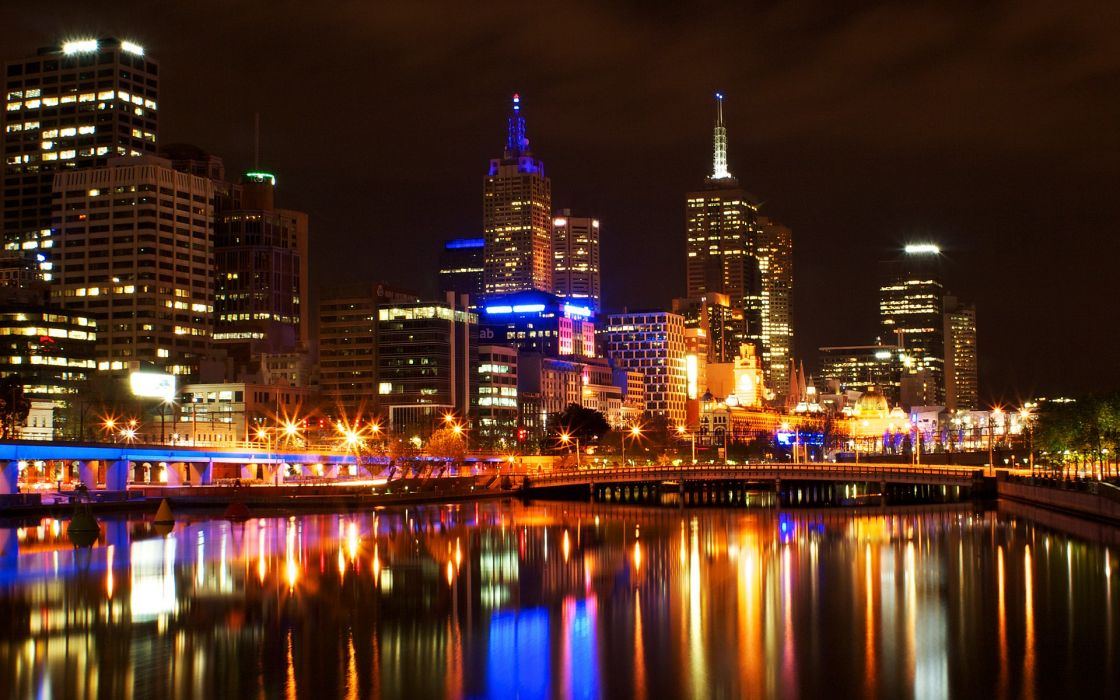 cityscapes night architecture urban skyscrapers HDR photography wallpaper