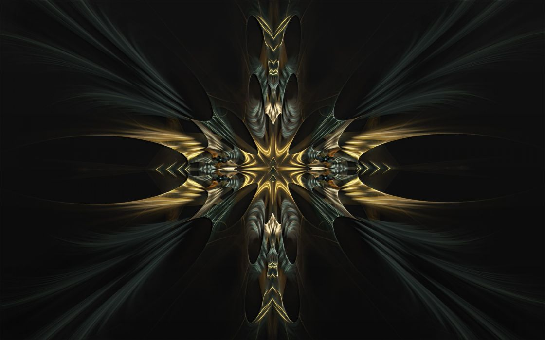 fractals darkness digital art wallpaper