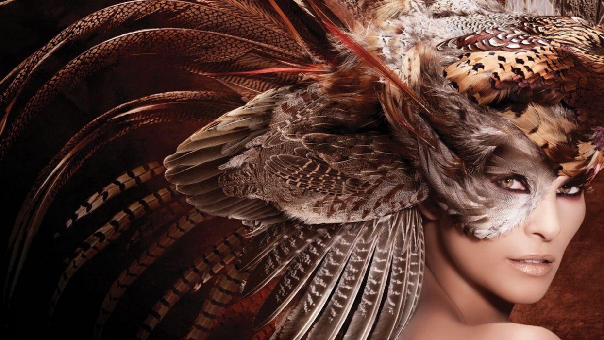 feathers head dress wallpaper
