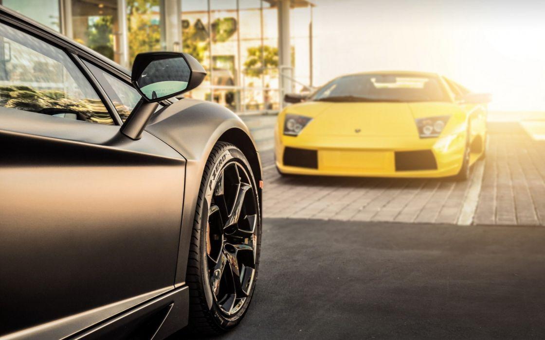 cars Lamborghini Lamborghini Aventador yellow cars wallpaper