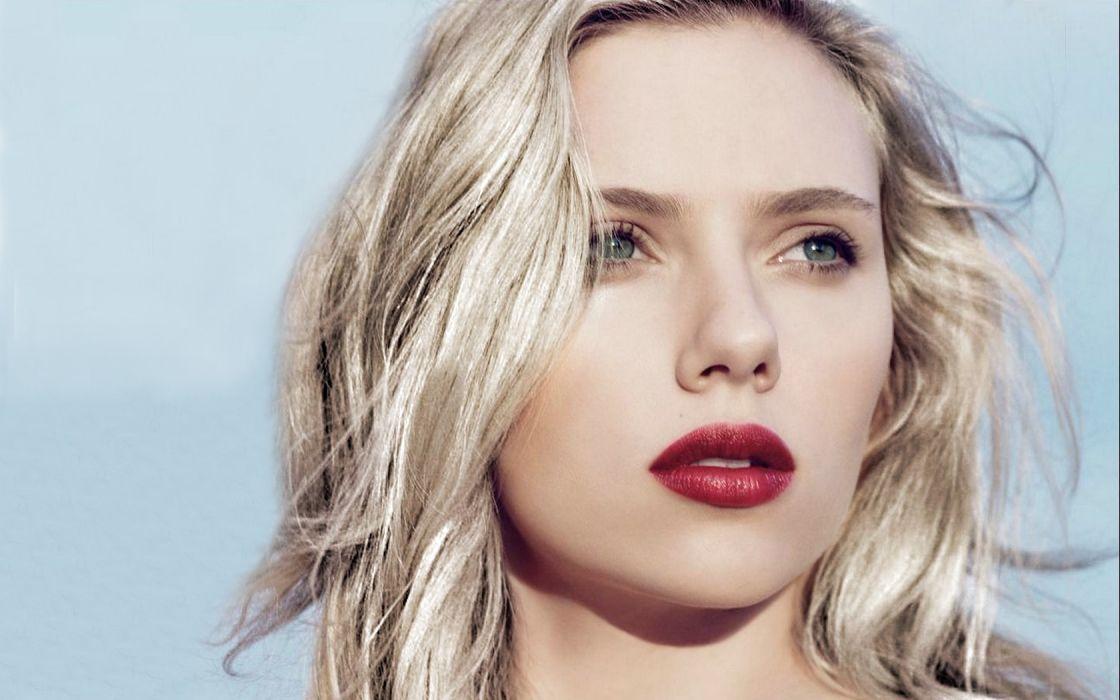 women Scarlett Johansson actress lips celebrity faces wallpaper