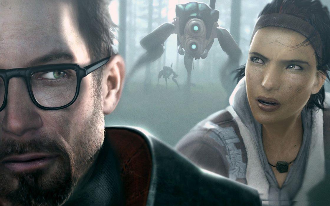 video games Gordon Freeman Alyx Vance Half-Life 2 Hunters (Half-Life) wallpaper