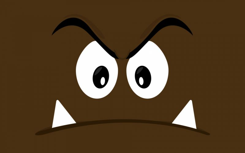 Mario vectors brown Goomba wallpaper