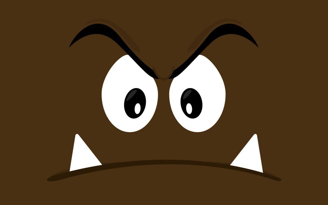 Mario vectors brown Goomba wallpaper