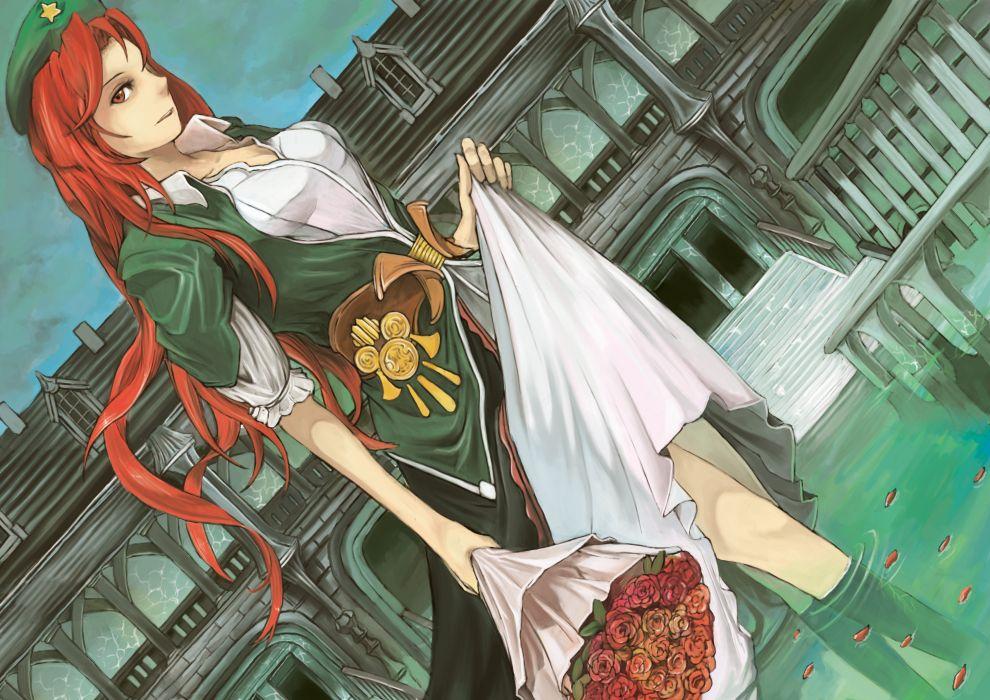 video games Touhou redheads long hair Hong Meiling wallpaper