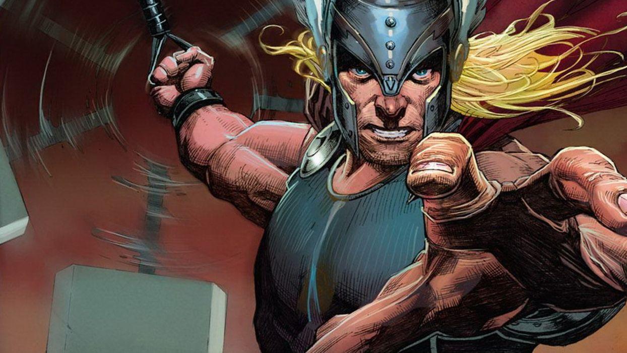 comics Thor God hammer Marvel Comics Norse Avengers Mjolnir comic art Marvel NOW wallpaper