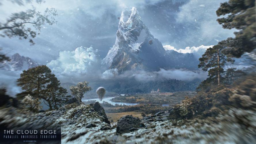artwork fictional landscapes wallpaper