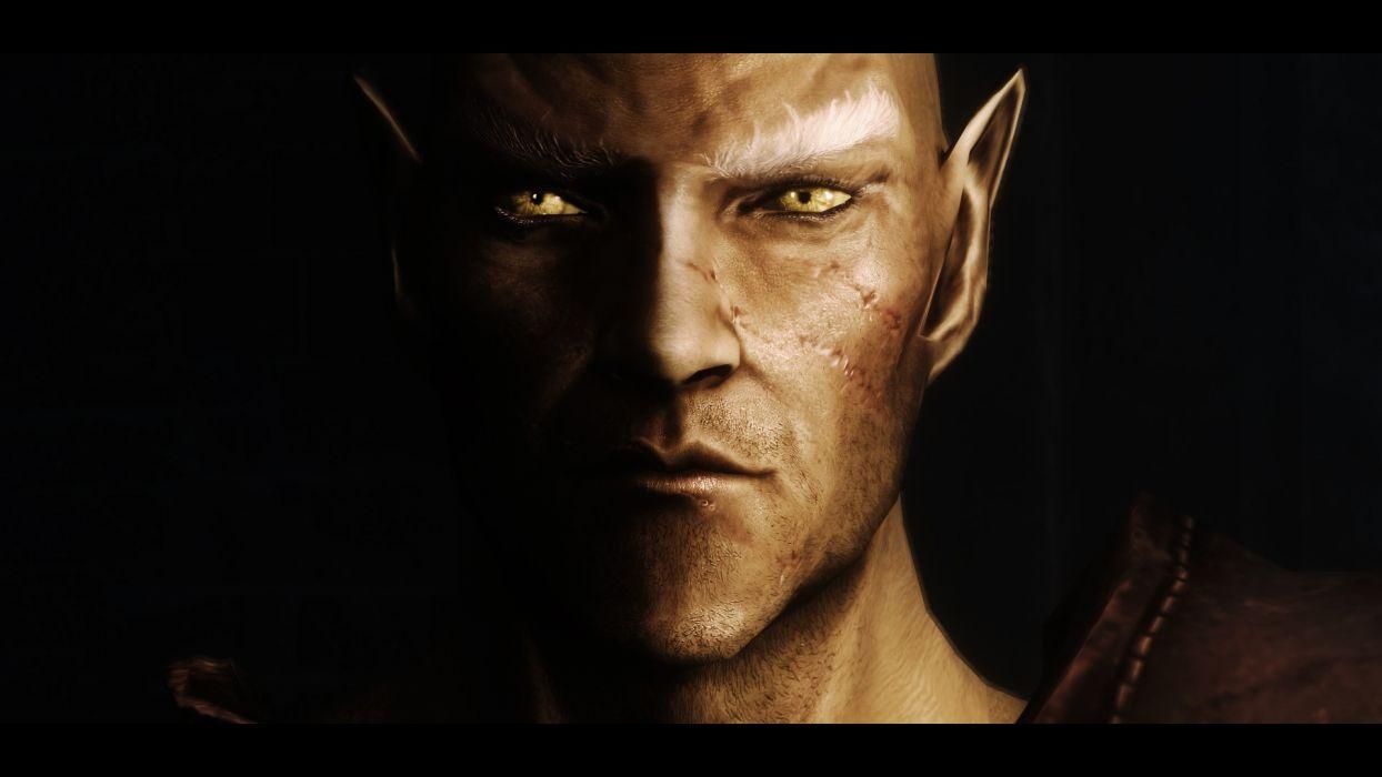 video games RPG elves yellow eyes High Elf The Elder Scrolls V: Skyrim pc games wallpaper