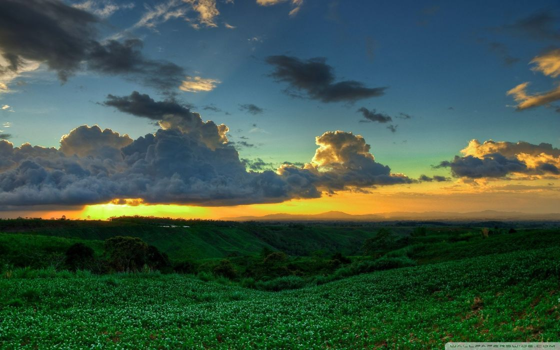 sunset clouds landscapes nature Philippines wallpaper