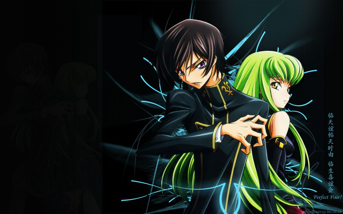 Code Geass Lamperouge Lelouch C_C_ wallpaper