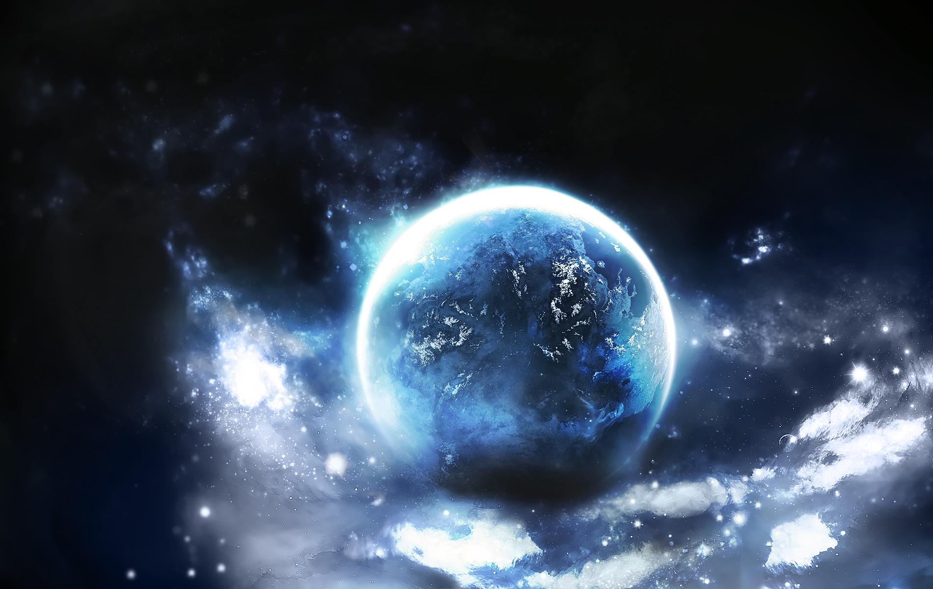 Обои Планеты синие картинки на рабочий стол на тему Космос - скачать  № 1765802  скачать