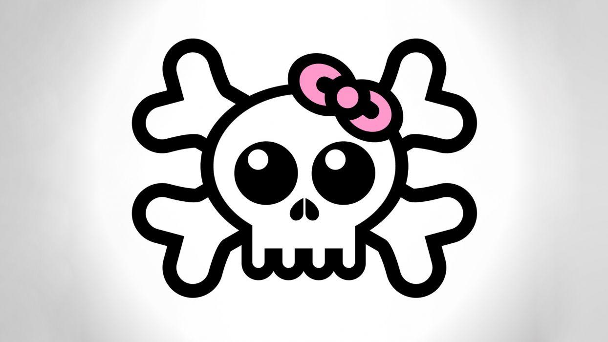 skulls vectors ribbons graphic design  white background wallpaper