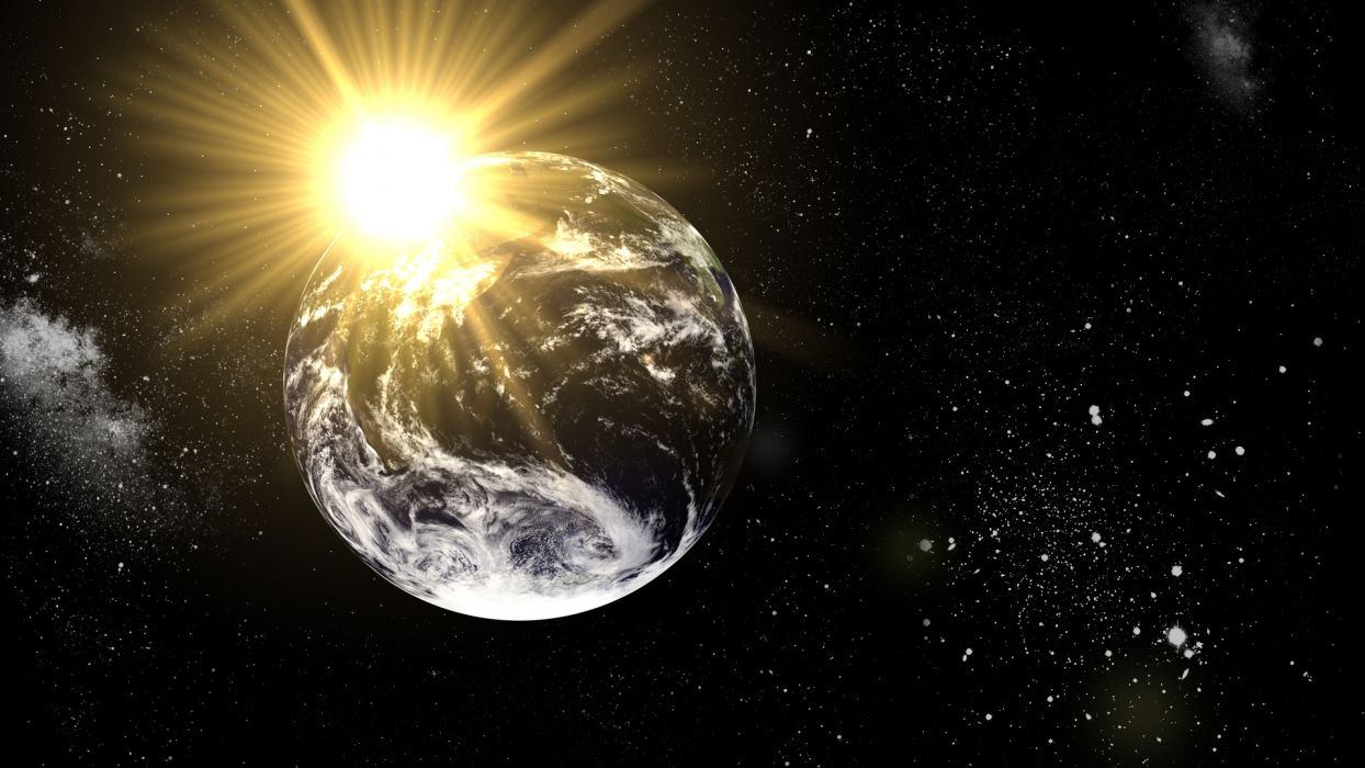 outer space wall Earth science fiction wallpaper