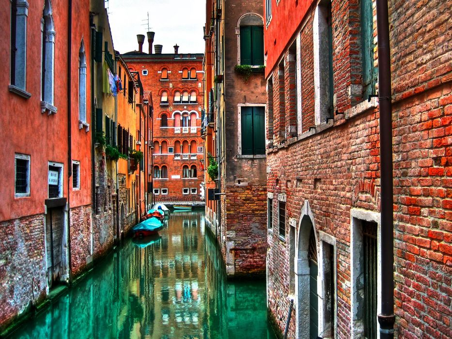 houses Venice wallpaper