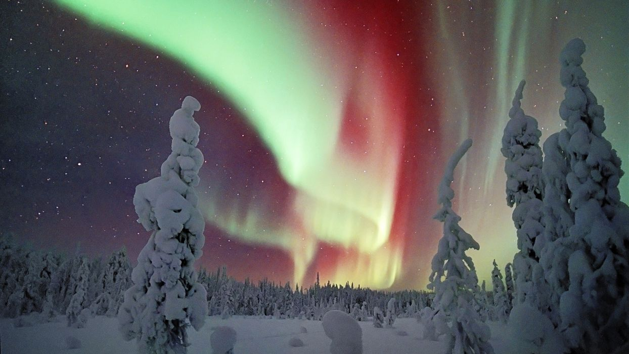 aurora borealis Finland Lapland wallpaper