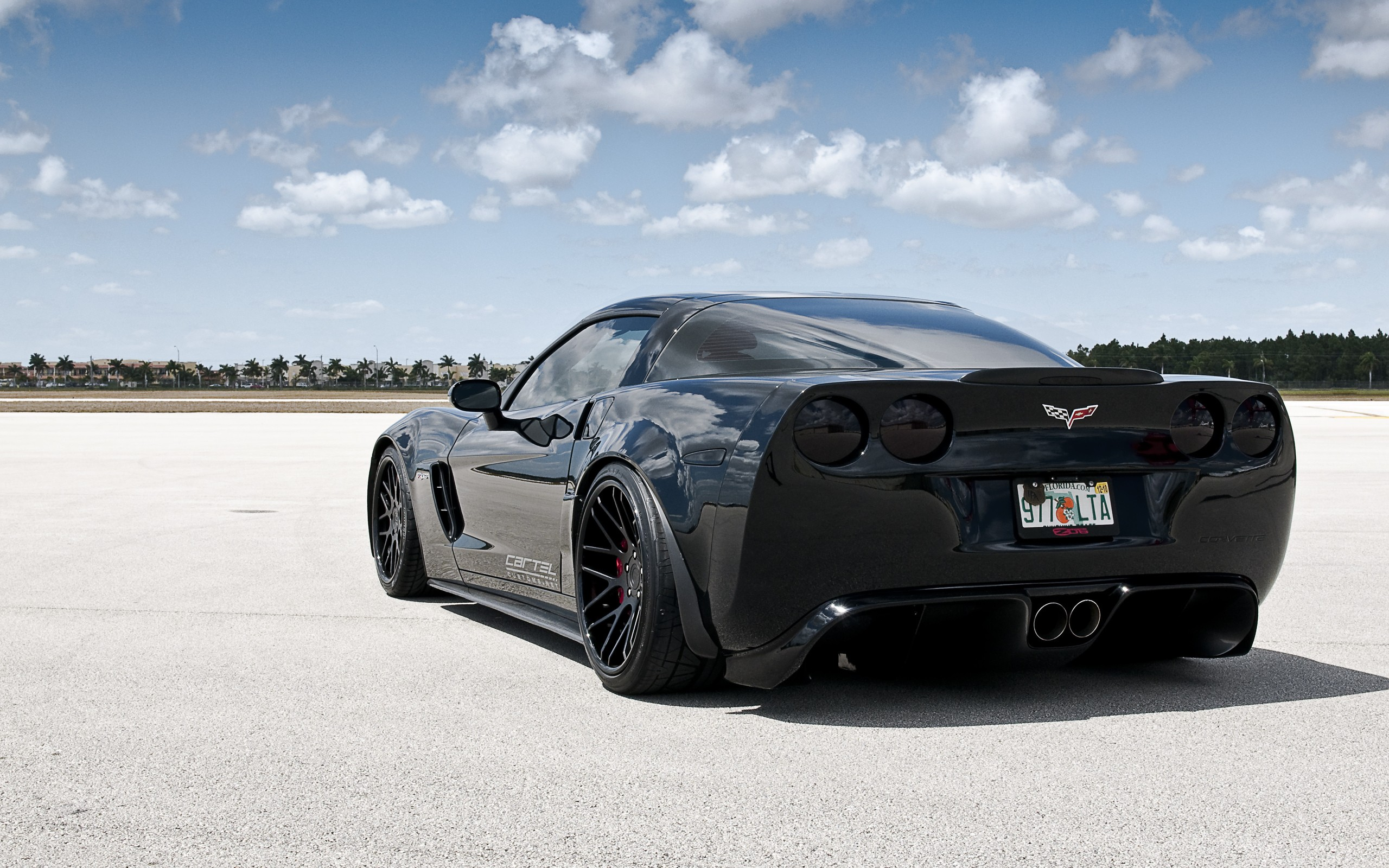 Black Cars Vehicles Supercars Tuning Chevrolet Corvette
