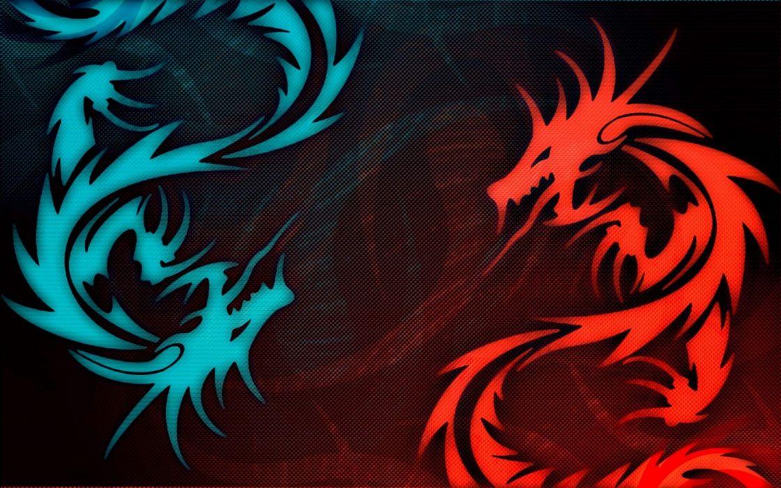dragons digital art artwork wallpaper