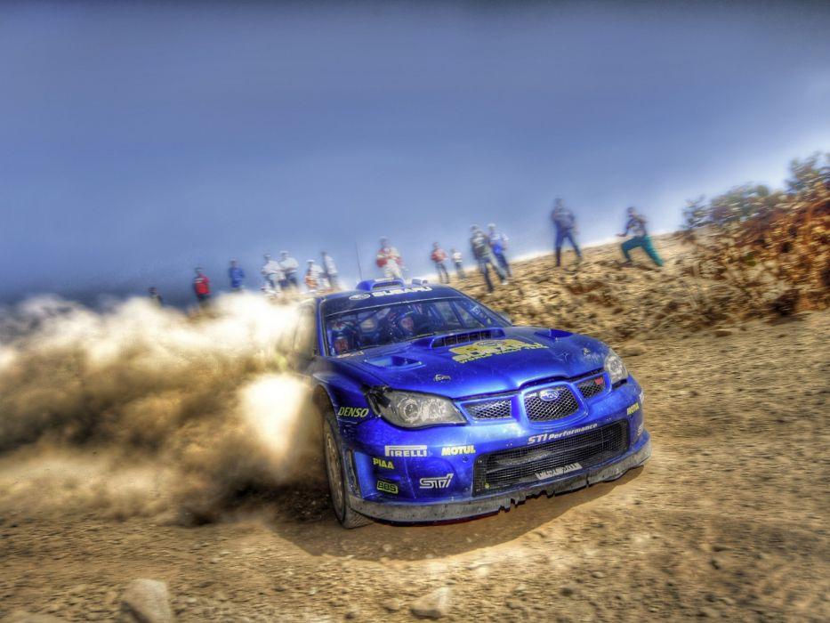 cars dust rally Subaru Impreza WRC blurred wallpaper