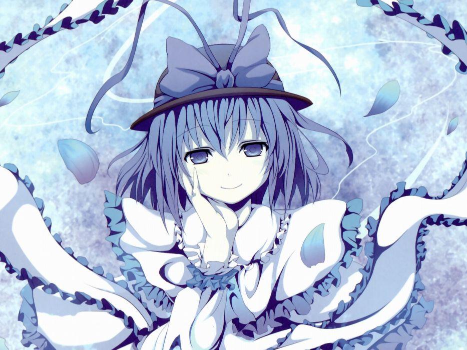 women Touhou Nagae Iku hats wallpaper