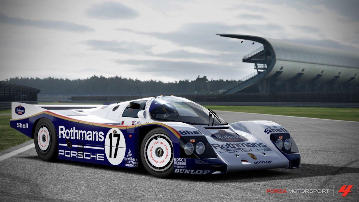 video games cars Xbox 360 Forza Motorsport 4 Porsche 956 wallpaper
