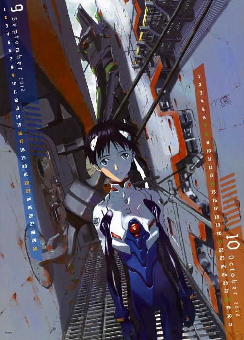 Neon Genesis Evangelion calendar manga EVA Unit 01 wallpaper