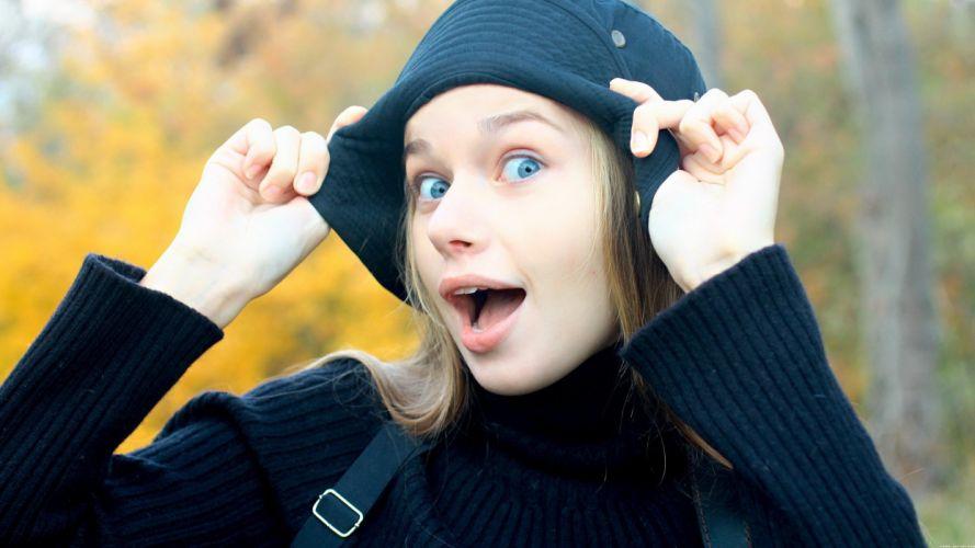 blondes women blue eyes Milena D Ukrainian wallpaper