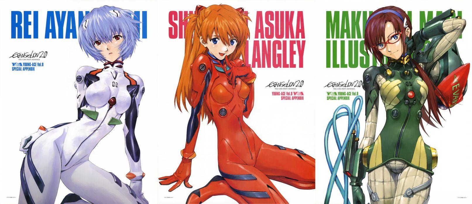 Ayanami Rei Neon Genesis Evangelion Makinami Mari Illustrious Asuka Langley Soryu EVAs wallpaper