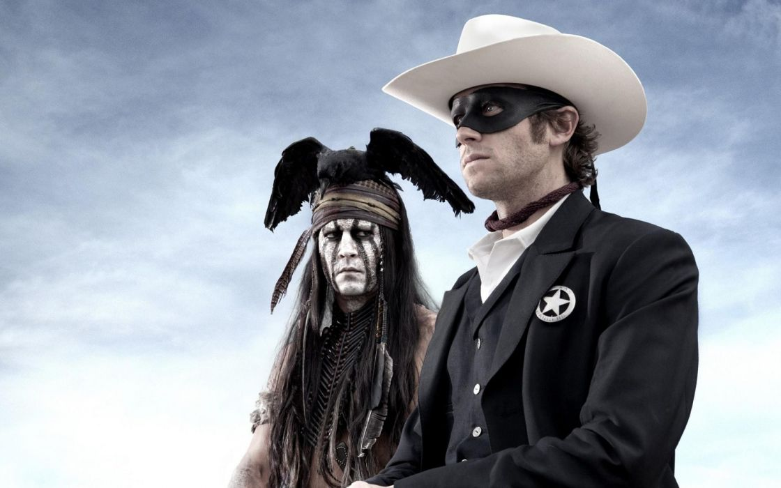 black movies masks Johnny Depp The Lone Ranger Tonto domino mask Native American wallpaper