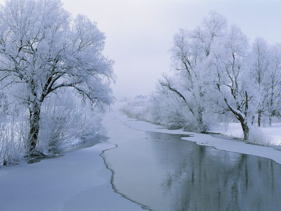 landscapes snow wallpaper