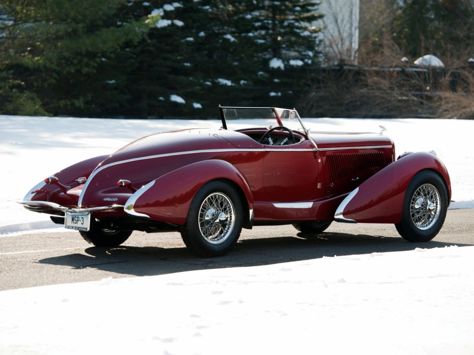 1935 Amilcar Pegase G36 Racer retro supercar roadster   f wallpaper