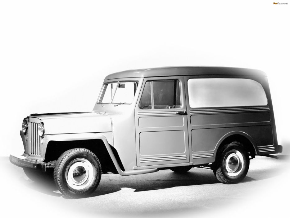 1946 Willys Jeep Wagon Panel Delivery retro 4x4   f wallpaper