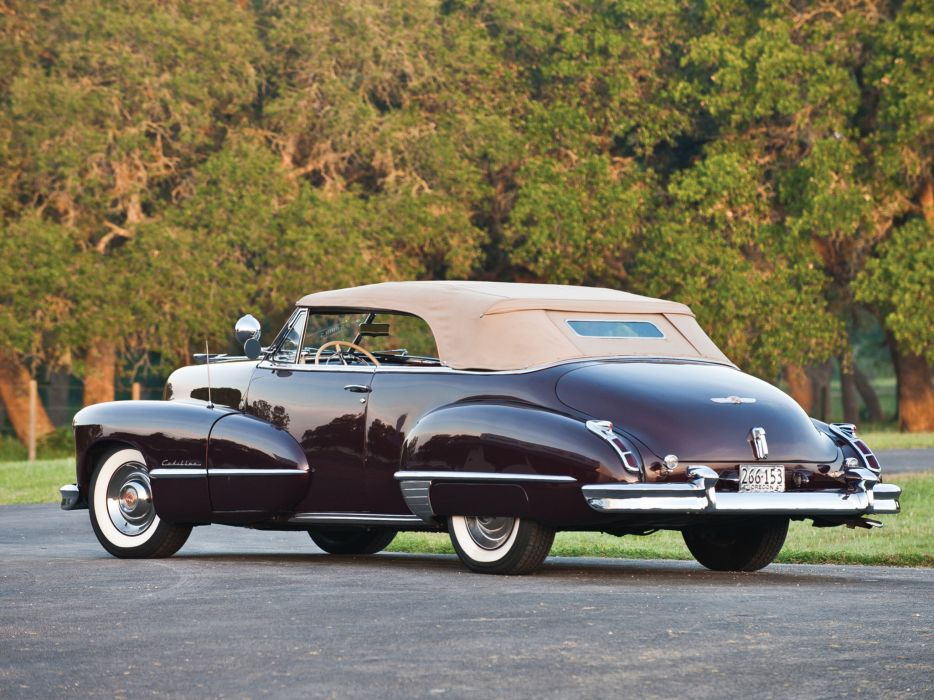 1947 Cadillac Sixty Two Convertible retro luxury      f wallpaper