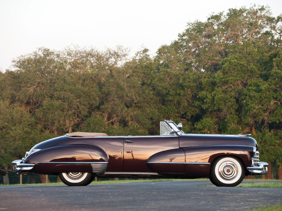 1947 Cadillac Sixty Two Convertible retro luxury b wallpaper