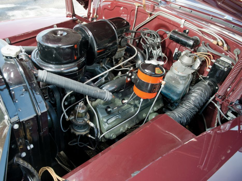 1947 Cadillac Sixty Two Convertible retro luxury engine    f wallpaper