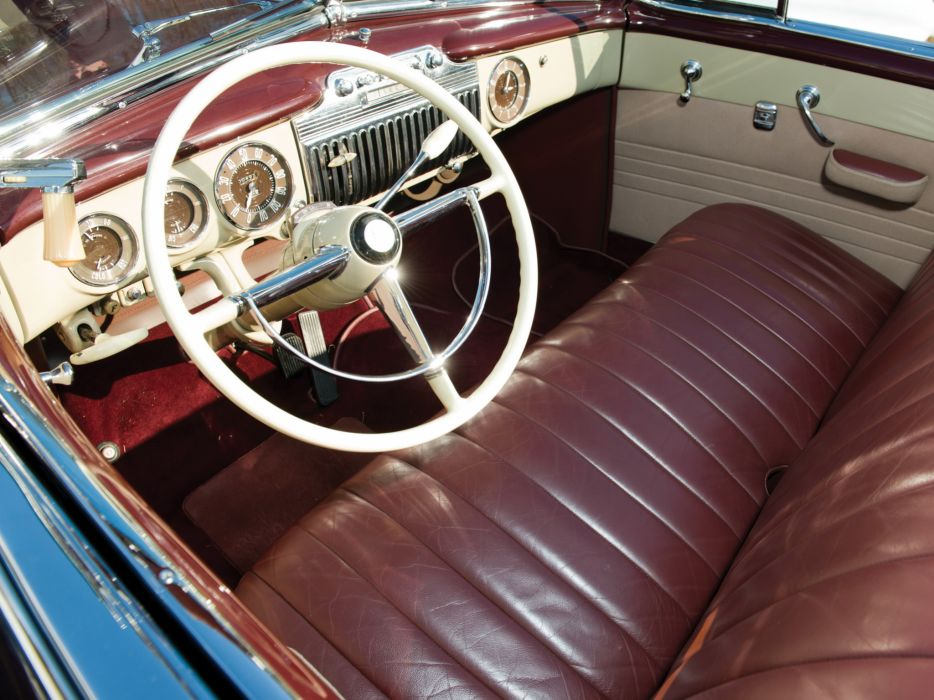 1947 Cadillac Sixty Two Convertible retro luxury interior  b wallpaper