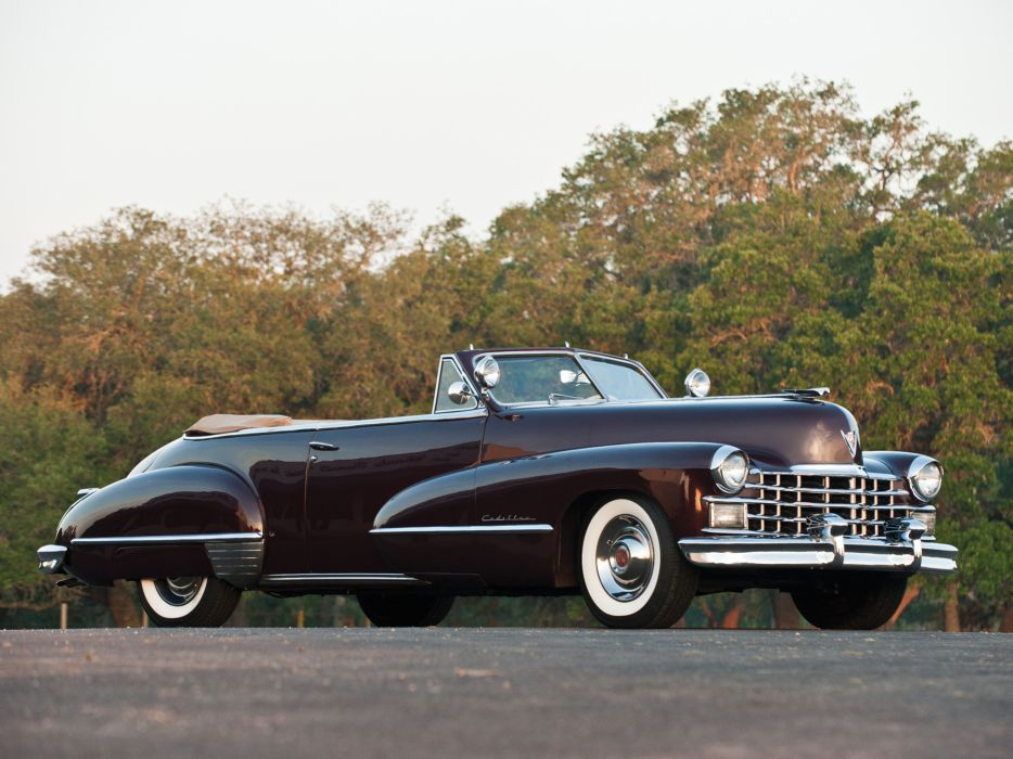 1947 Cadillac Sixty Two Convertible retro luxury n wallpaper