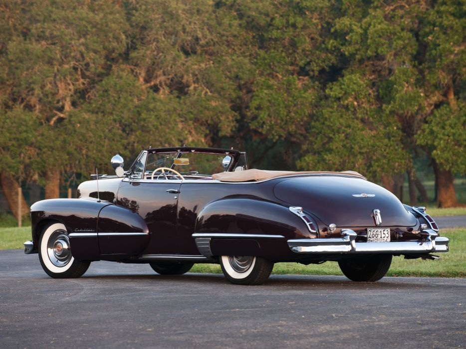 1947 Cadillac Sixty Two Convertible retro luxury no wallpaper