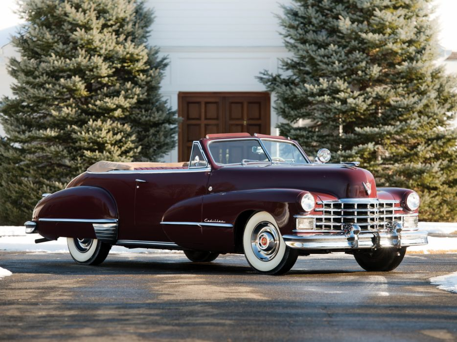 1947 Cadillac Sixty Two Convertible retro luxury v wallpaper