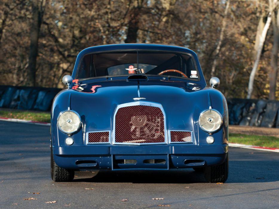 1950-53 Aston Martin DB2 Vantage Saloon retro race racing    f wallpaper